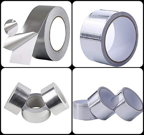 6 Rollen Aluminium Klebeband 50mm x 10m (Rolle Aus Aluminium)