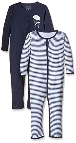NAME IT Baby-Jungen NITNIGHTSUIT M B NOOS Schlafstrampler, Mehrfarbig (Dress Blues), 92 (2erPack