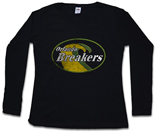 Urban Backwoods Orlando Breakers Women Donna T-Shirt A Manica Lunga – Taglie XS – 2XL Nero