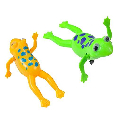 QHJ Baby Kind Kind Schwimmen Pool Taucher Bad Wind Up Uhrwerk Bildung Spielzeug, Uhrwerk Frosch Aufziehen Tierspielzeug Spielen (Als Zeigen)