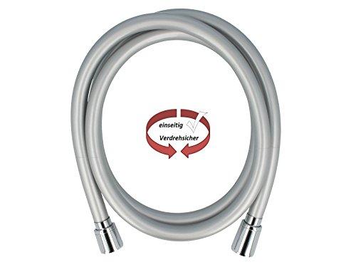 tecuro PREMIUM 0,50 m Brauseschlauch Verbindungsschlauch silberglatt mit Perleffekt
