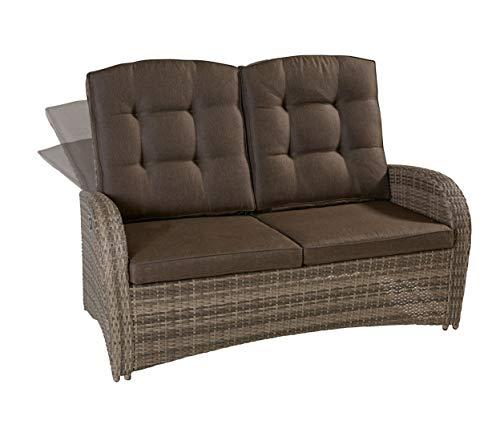 Wholesaler GmbH LC Garden 2er Sofa Zweisitzer Turin Living Natur Couch Gartenmöbel
