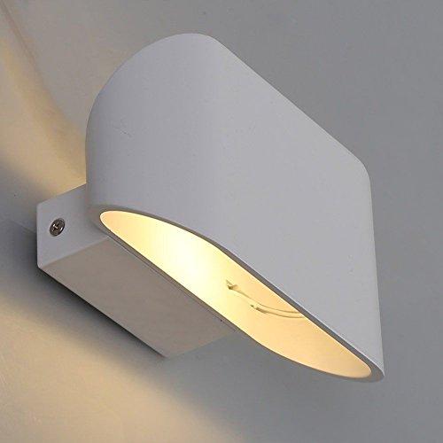 Lightess Moderne 6w LED Wandleuchte Innen led wand leuchtet auf wand lichter wand lampe, indoor - nacht - licht helle wand beleuchtung dekorative beleuchtung wohn - und schlafzimmer korridor hotel, warmen weißen(Glühlampe einschließen)
