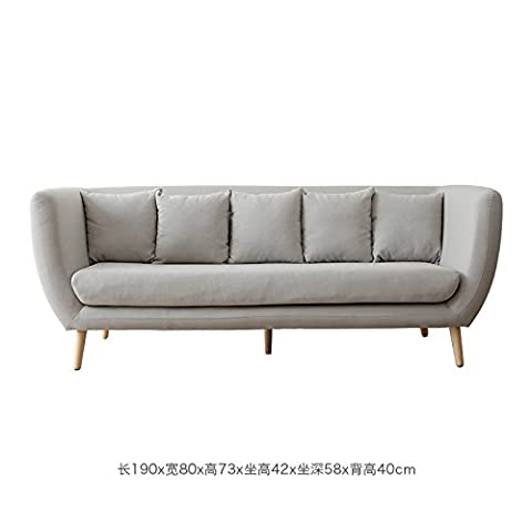 LZL Sofa small apartment sofa living room modern simple equipped with more than 3 people fabric sofa,Many