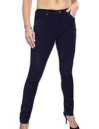 ICE (1526-3) Jeans Extensible Touché Velours Côtelé Bleu Marine