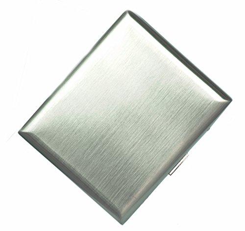 CaLeSi Classic Zigarettenetui Lagerung für 20 Zigaretten Halter Edelstahl Drahtziehen Verarbeitung mit - Lagerung Silber-münze