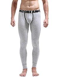 GreatFun Noir Gris Hommes de Mode Galaxy Impression Design Coton Respirant  Sports Leggings Thermique Long Johns sous-vêtements… 7812cd9cb6a