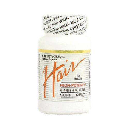 California Natural Hair Vitamin and Mineral Tablets, 30 Count - 2 Pack by CALIFORNIA NATURAL