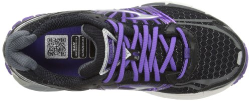 Brooks Adrenaline Gst 14, Chaussures de running femme Nero (Black/Electric Purple/Silver)