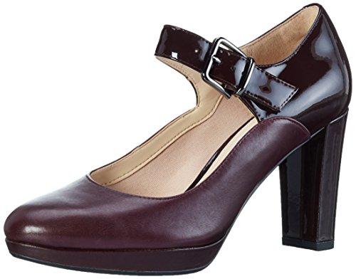 Clarks Damen Kendra Gaby Pumps, Violett (Aubergine Leather), 41.5 EU