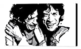 - Rolling Stones Mick Jagger Keith Richards Cadre ? Impression Sur Toile, stretched canvas print, Druck auf keillenwand, impression sur toile ? Reproduction du peinte originale (50 x 25 cm)