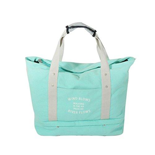 Sentao Groß Kapazität Multifunktionale Reisetasche Handtasche Umhängetasche Shopper Tasche Schuhtasche Himmel Blau