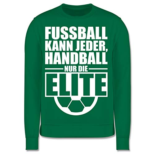 Shirtracer Handball WM 2019 Kinder - Fußball kann jeder, Handball nur die Elite - 5-6 Jahre (116) - Grün - JH030K - Kinder Pullover