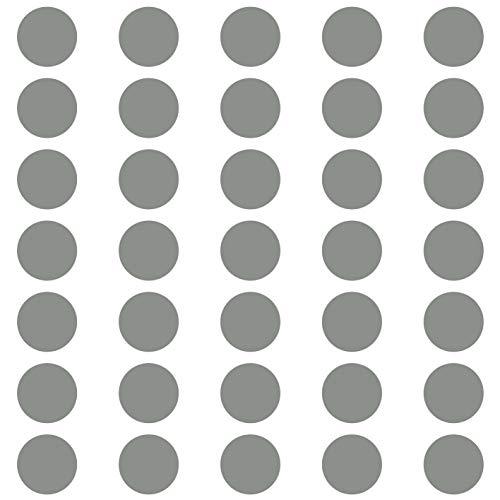 kleb-Drauf®   35 Punkte   Grau - matt   Wandtattoo Wandaufkleber Wandsticker Aufkleber Sticker   Wohnzimmer Schlafzimmer Kinderzimmer Küche Bad   Deko Wände Glas Fenster Tür Fliese