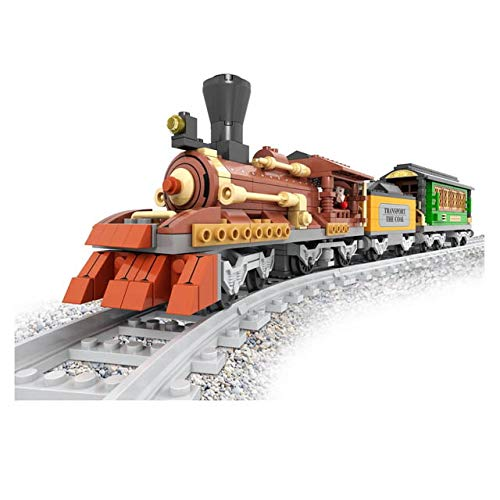 Zug-satz Kohle Auto & Fahrgast-beförderung Klassisch Dampfmaschine 9st. Schienen #25809