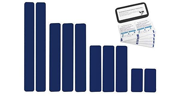 Selbstklebende Planenreparatur Tapes 10 Teilig Easy Patch Comfort 50mm Für Zelte Planen Uvm Saphirblau Ral 5003 Auto