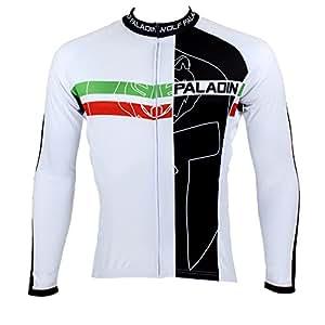 Paladin 100% Polyester veste cyclisme en manches longues maillot vélo Jersey de randonnée Vêtements respirantet sportif pour Printemps Été Automne Style d'homme
