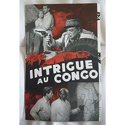 Dossier de presse de Intrigue au Congo (1956) de Joseph Pevney avec Virginia Mayo, George Nader, Peter Lorre – Photos N&B + scénario + fiche technique – Bon état.
