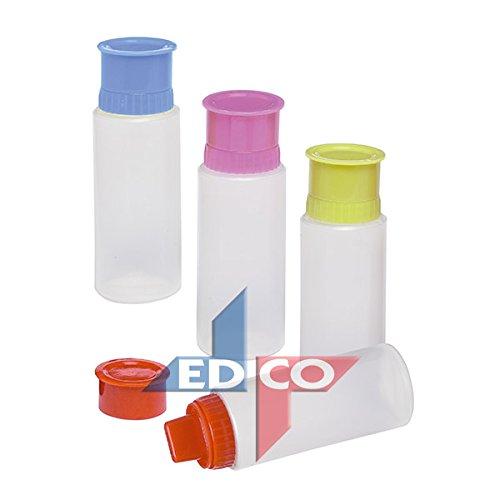 Edco 4pc Squeeze Décoration glaçage bouteilles (H : 13 cm D : 5 cm) (53671)