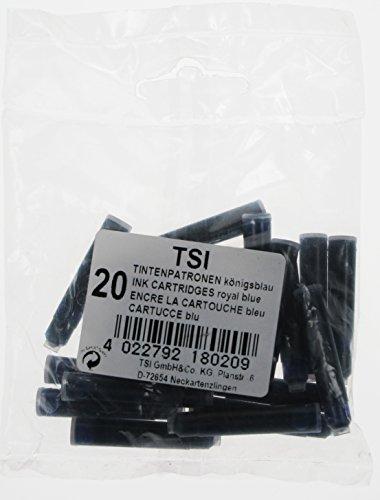 TSI 18020 Tintenpatronen, 20er Packung, königsblau