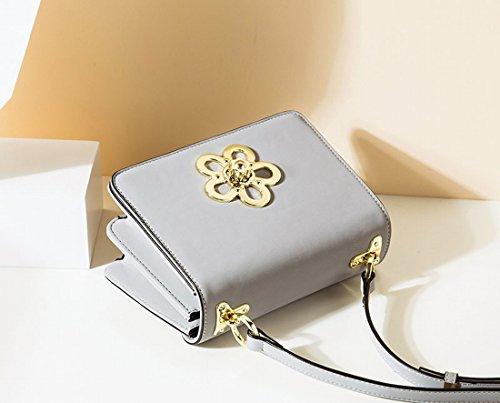 Kleine Quadratische Tasche Freizeit Schulter Messenger Tasche Dunkel~~Pos=Trunc Grau~~Pos=Headcomp