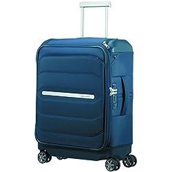 SAMSONITE Flux Soft - Spinner 55/20 w/ Top Pocket Bagage cabine, 55 cm, 38 liters, Bleu (Navy Blue)