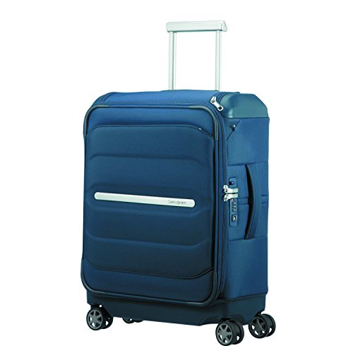 SAMSONITE Flux Soft - Spinner 55/20 w/ Top Pocket Equipaje de mano, 55 cm, 38 liters, Azul (Navy Blue)