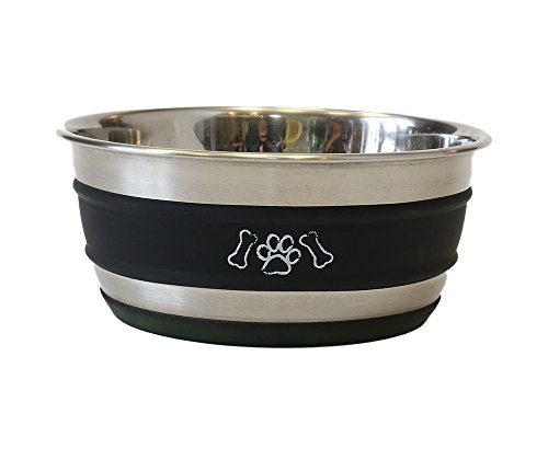 lilli-pet-metal-star-paintable-feeding-dish-950-ml-black