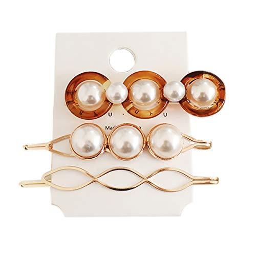 Frauen Perle Haarspangen Haarspangen 3pcs Set Perlen Haarschmuck Mode GroßE Und Kleine Snap Haarnadel Cute Styling Geschenke FüR MäDchen