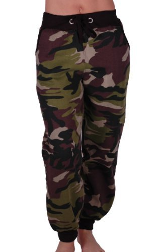 Eyecatch - Damen Casual Army Military Tarnung Sport Gym Jogger Jogging Damen Trainingshose Small
