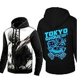 Cosstars Tokyo Ghoul Anime Sudaderas con Capucha Hoodie Sweatshirt Adulto Cosplay Luminoso Zip Jacket 9 M