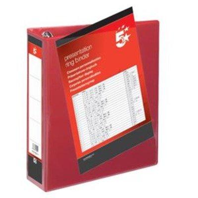 Whitebox 65mm Präsentations 513316Ringbuch–Schwarz rot
