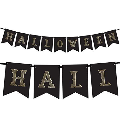 Unbekannt Girlande Halloween Trick or Treat 2,5 m Schwarz-Gold Wanddeko Raumdeko Halloween ()