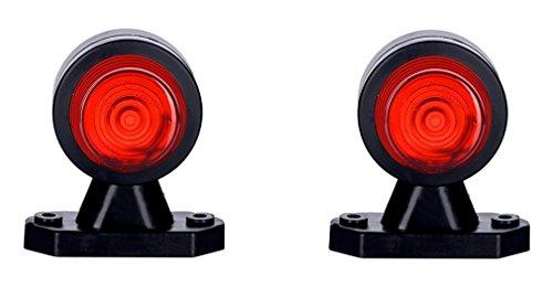 2 x WEISS + ROT Begrenzungsleuchte Seitenleuchte 12V 24V E-Prüfzeichen Positionsleuchte Seite Auto LKW PKW KFZ Lampe Leuchte Licht Front Rück Birne
