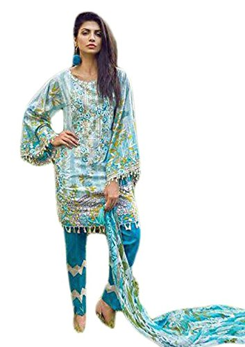 Anasha Fashions Pakistani Salwar Kameez Digital Print With Self Emberiordery