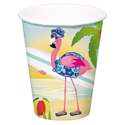 (Folat 8 Party-Becher * Flamingo * für Mottoparty Oder Kindergeburtstag // Pa)