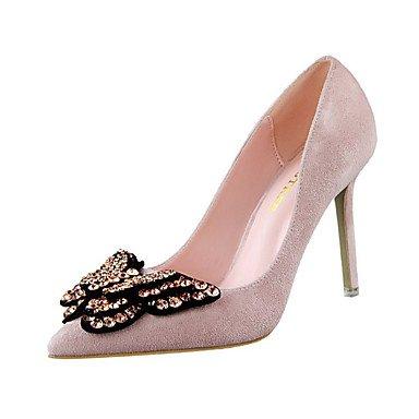 Moda Donna Sandali Sexy donna tacchi Felpa casual Stiletto Heel Bowknot Nero / Giallo / Verde / rosa / rosso / grigio / arancio / Burgundy Altri gray