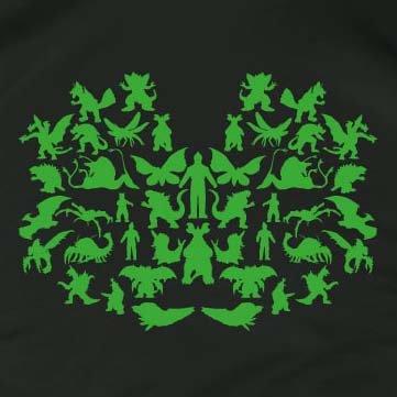 TEXLAB - TBBT: Monsters Green Edition - Langarm T-Shirt Weiß