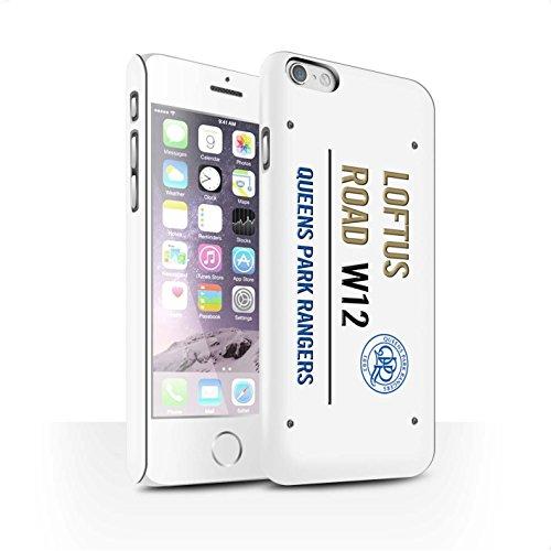 Offiziell Queens Park Rangers FC Hülle / Matte Snap-On Case für Apple iPhone 6 / Pack 8pcs Muster / QPR Loftus Road Zeichen Kollektion Weiß/Gold