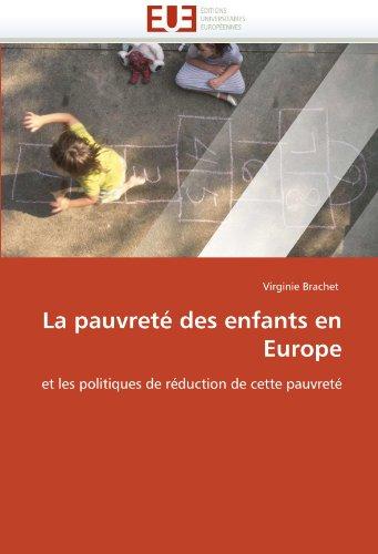 La pauvreté des enfants en europe