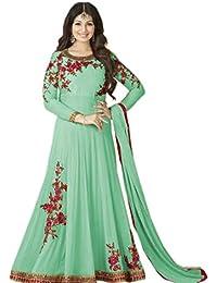 AnK Women's Georgette Dress Material (Pista_AV_Free Size_Pista)