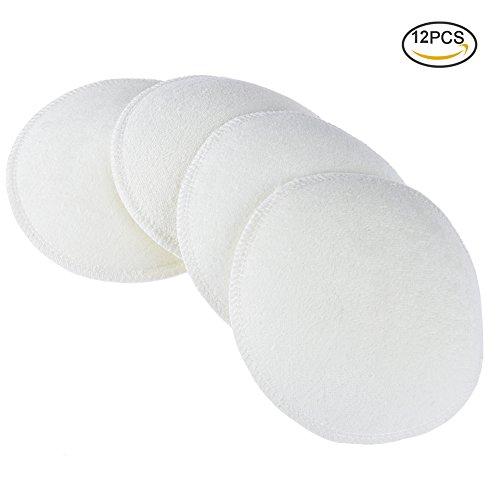 Pretty See Still Pads Brust waschbare stilleinlagen, Atmungsaktiv und sanft zur Haut geeignet für Wochenbett Frauen, 12er Set, weiß Test