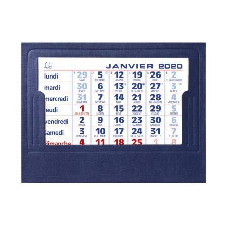 EXACOMPTA - 1 Calendrier Mensuel Chevalet - Année 2020-3 Coloris aléatoires - 13,5x10,5 cm
