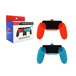 LeSB Nintendo Switch Joy Con Griff Gaming Controller -[2 Stück] Komfort Gamepad Controller Grips für Nintendo Switch Joy-Con, Blue/Red