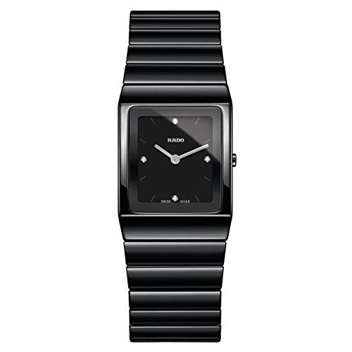 Rado Ceramica Damen-Armbanduhr Diamant Armband Keramik Batterie R21702702 (Rado-uhr Batterie)