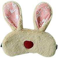 Oído Largo Conejo Sueño Máscara para los Ojos Banda elástica Cómoda Sombra de Ojos Ojos fríos Cubierta Que Alivia la Fatiga Protector para los Ojos