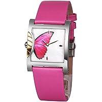 Time100 Orologio donna rosa elegante pelle, cassa in acciaio inox#W50265L.02A