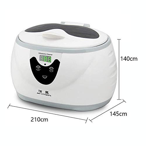 JZX 600 Ml Digital Timing Schallwellenreinigung Ultraschallpoliermaschine mit Flüssigkristallanzeige Zeitgesteuerte Entgasungsfunktion zur Reinigung von Schmuck Uhr Ring Halskette