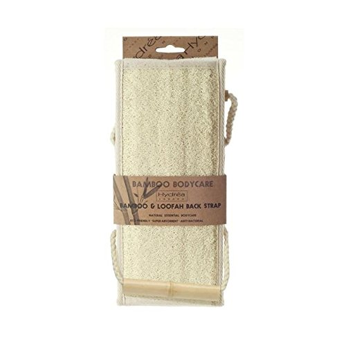 Hydrea London Bambou Et Luffa Exfoliant Sangle Arrière (Lot de 4)