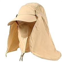 ... Gorras y sombreros protección UV. Leisial Sombrero Pesca del Sol Gorra  al Aire Libre de Protección Solar Transpirable Cap Sombrero de 169979a1e72